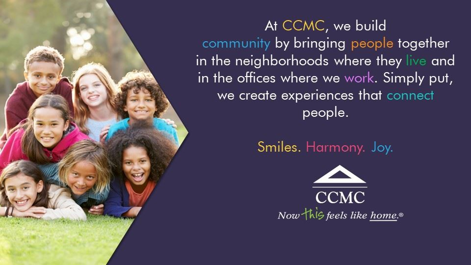 At CCMC, we build community by brining people together. Smiles. Harmony. Joy.